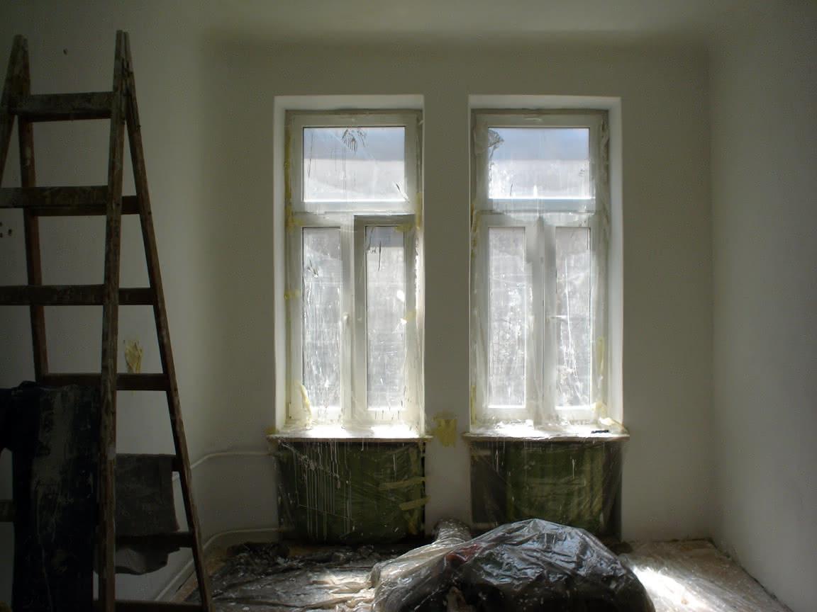 pokój na biało..z2-3 razy malowany