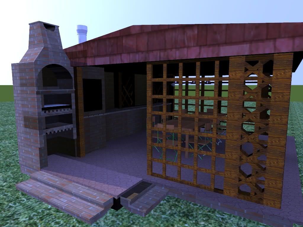 Projekt mojej altany z grillem i wedzarnią