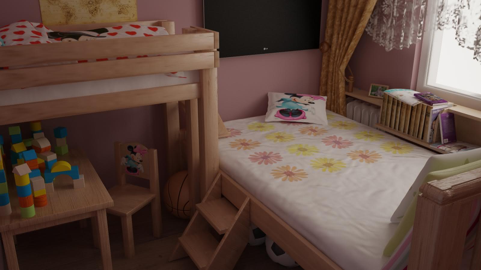 Pokój sypialny w M-3
