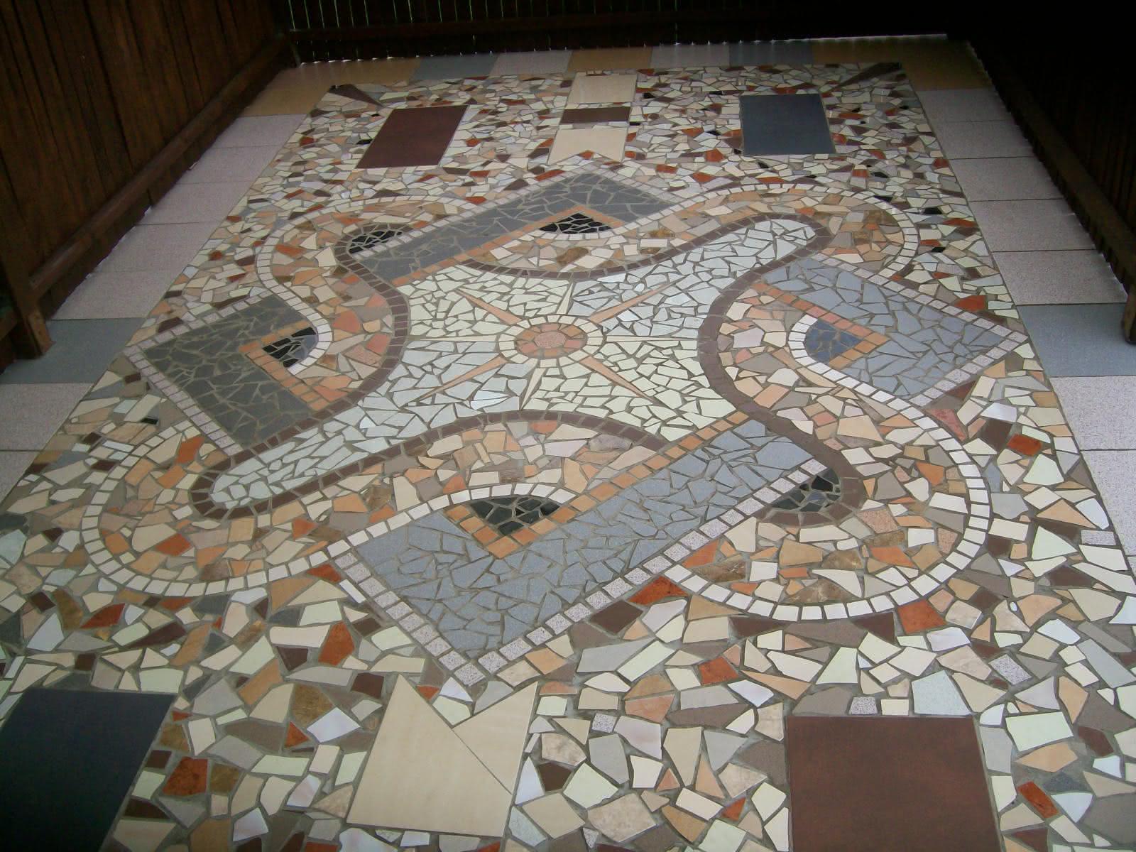 Mozaika - mieszanina odpadów