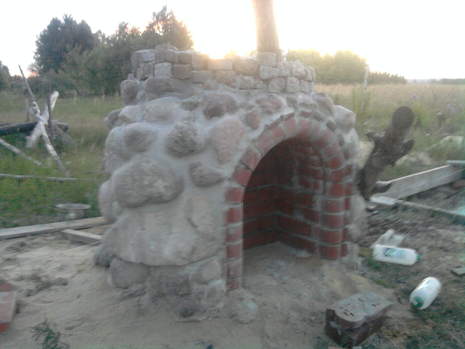 stone barbecue