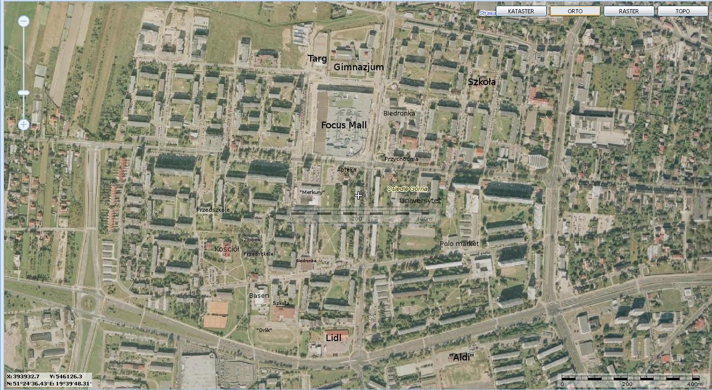 Lokalizacja mieszkania M-3