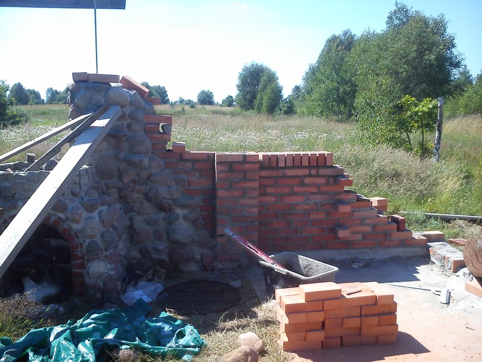 Altana z kamienia i cegły