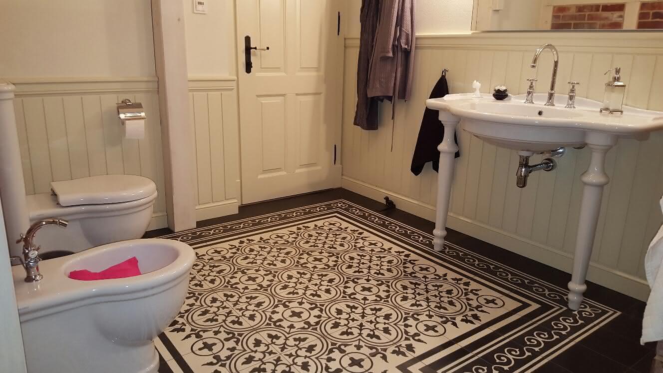 Płytki cementowe łazience